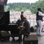 Gregory Porter with our Yamaha AvantGrand at the V Festival.